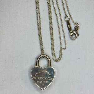 Return To Heart Lock Sterling Silver Necklace 16""